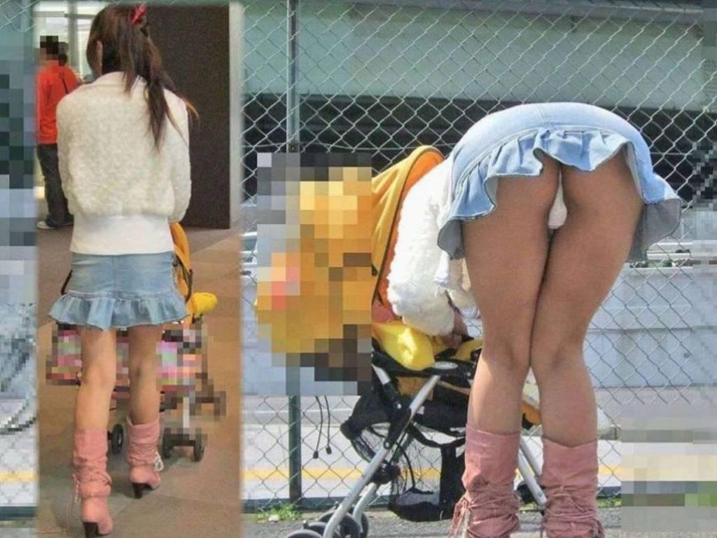 ミニスカートから下着が見えちゃった素人さん (12)