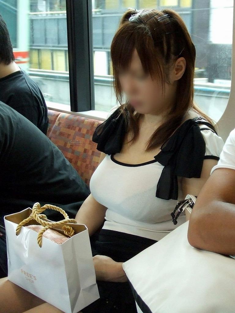 デカい乳房の女の子が電車に乗ってた (3)