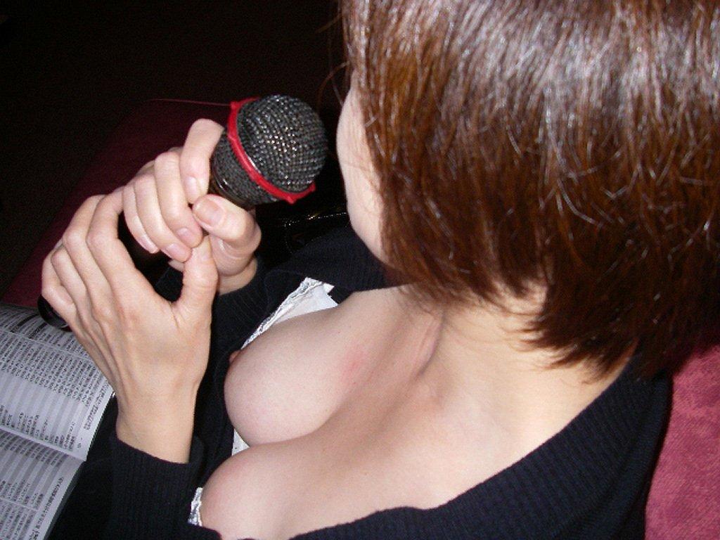乳頭までチラチラ見えてる素人さん (14)