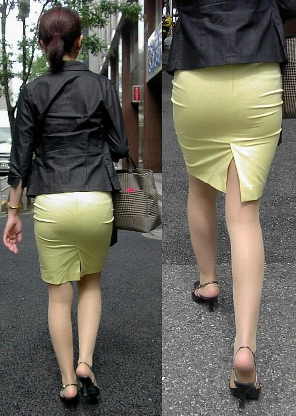 お尻にピタッと張り付いているスカート (3)