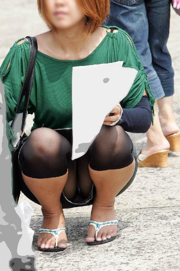 スカートの裾から見えちゃった下着 (4)