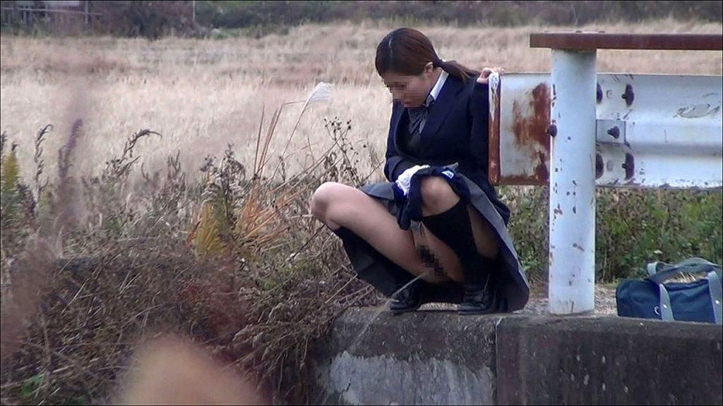 屋外で放尿しちゃった女の子 (15)