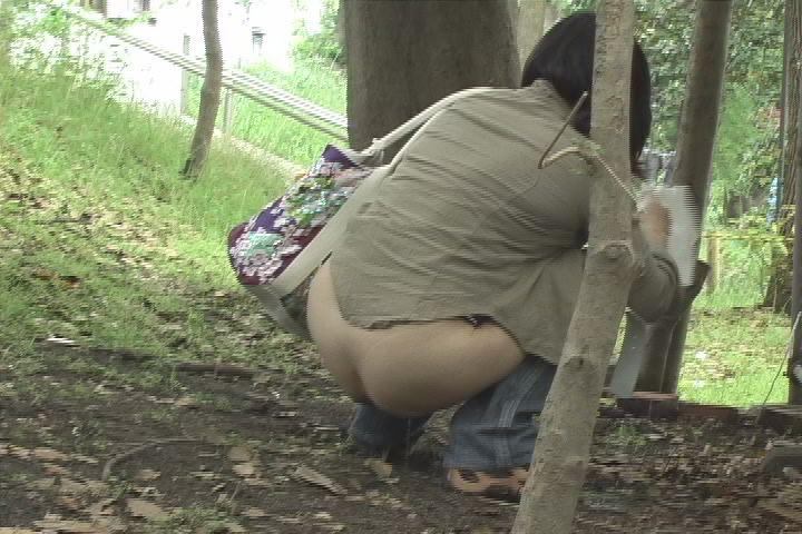 屋外で放尿しちゃった女の子 (8)