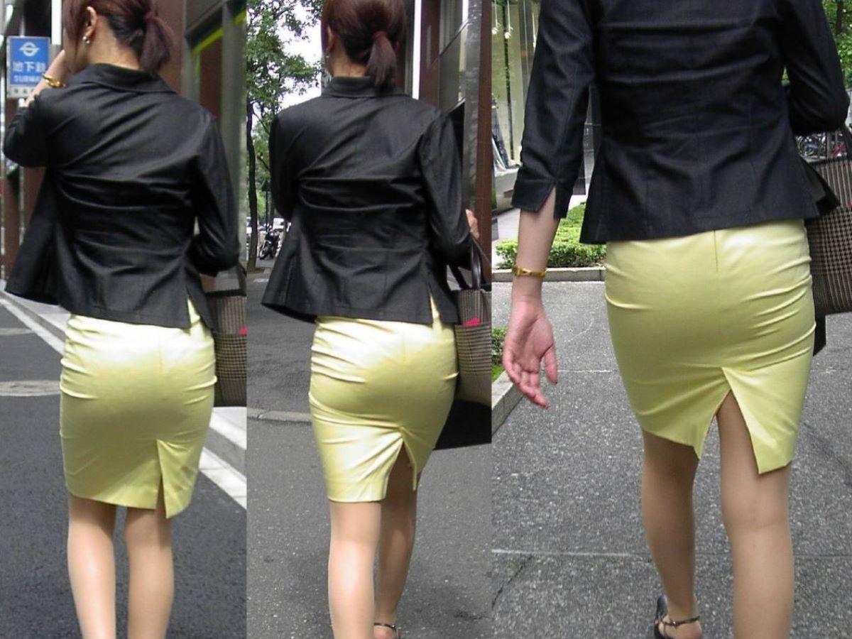 お尻から透けパンしながら街を歩く素人さん (10)