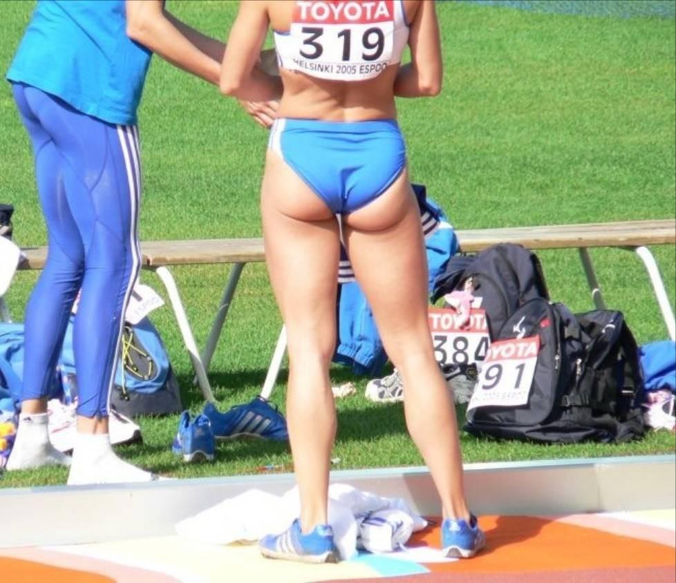 ハミ尻やパンチラしてる女子選手たち (6)