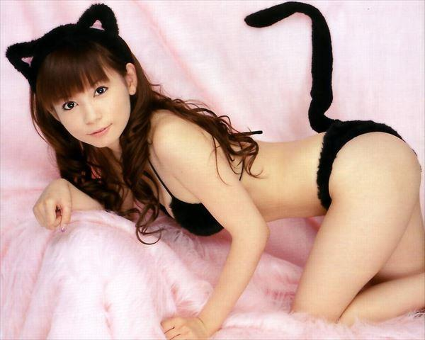 獣耳を装着するセクシーな女の子 (8)
