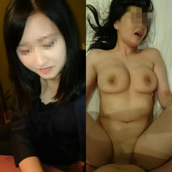 服を着た状態と全裸を見比べる (7)