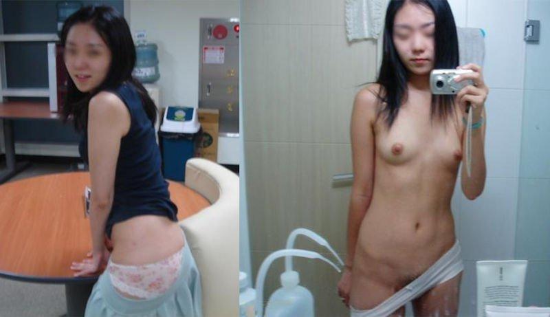 服を着た状態と全裸を見比べる (12)
