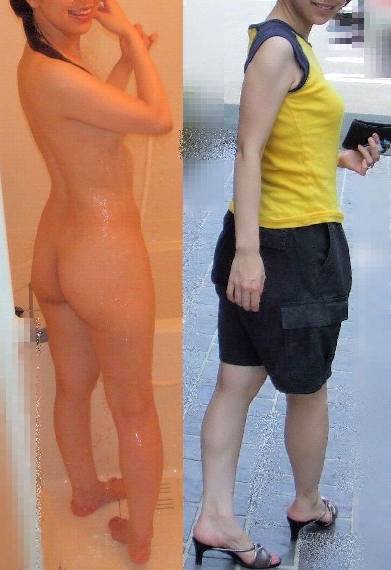 服を着た状態と全裸を見比べる (10)