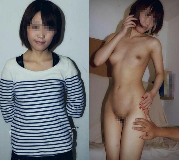 服を着た状態と全裸を見比べる (18)
