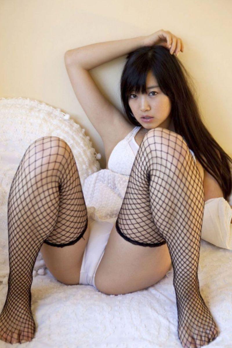網タイツがセクシーな女の子 (6)
