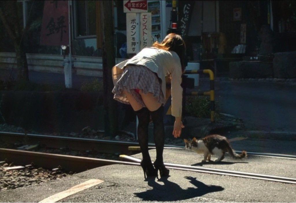 ミニスカートを穿いたらパンチラしちゃった素人さん (14)