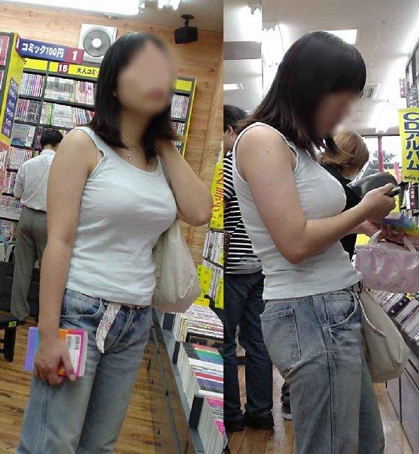 服の上からでも分かる巨乳 (15)