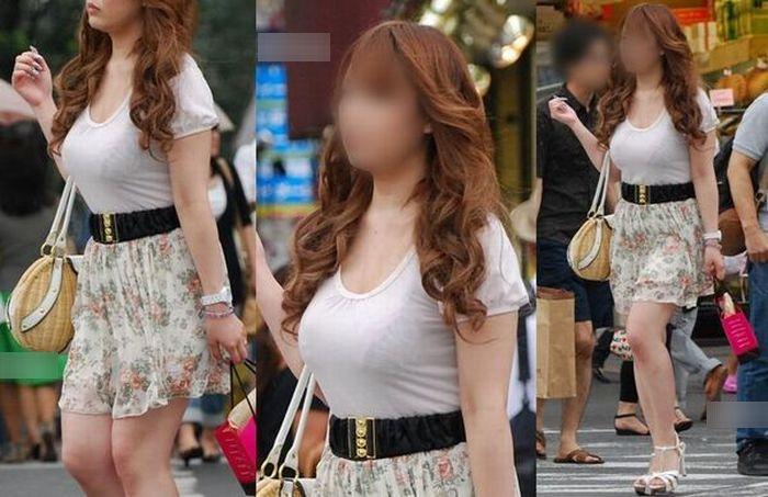 着衣巨乳が目立つ素人さん (3)