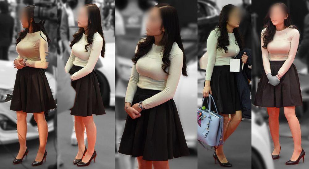 街でも目立つ着衣巨乳 (10)