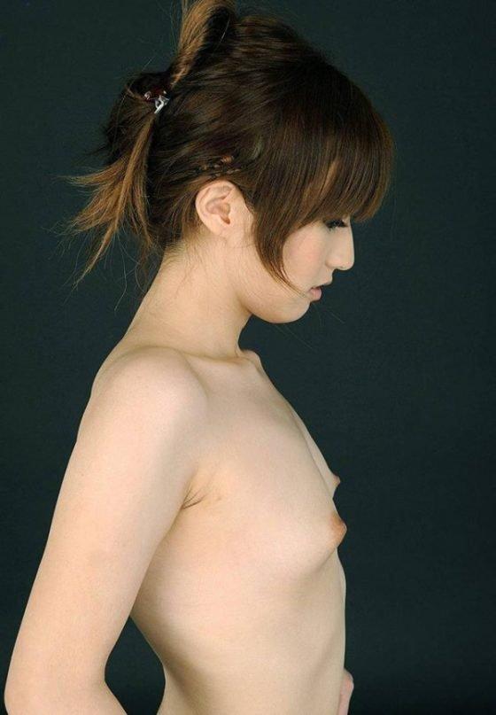 横から見た貧乳や微乳 (12)