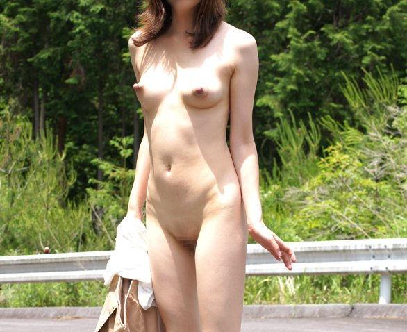 野外で素っ裸になる変態さん (10)