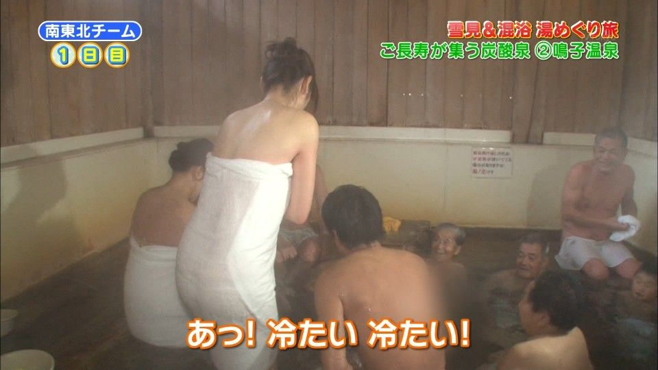 透けバスタオルの半裸美女 (5)