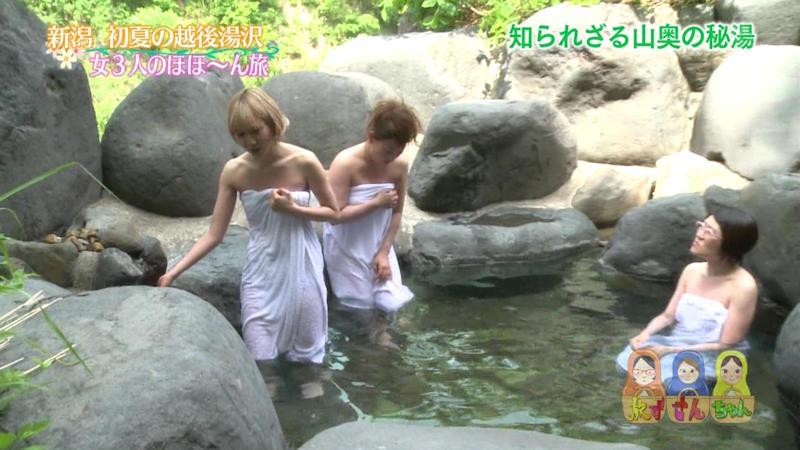 透けバスタオルの半裸美女 (7)