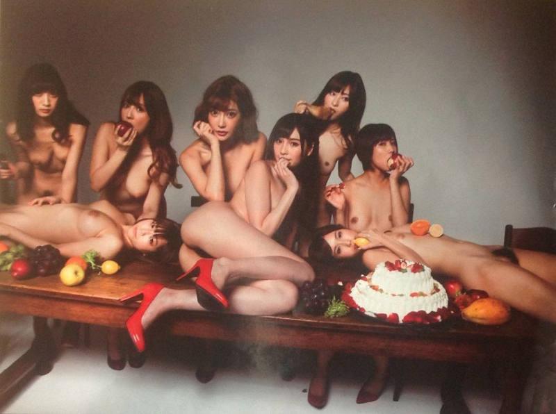全裸美人の集合写真 (5)