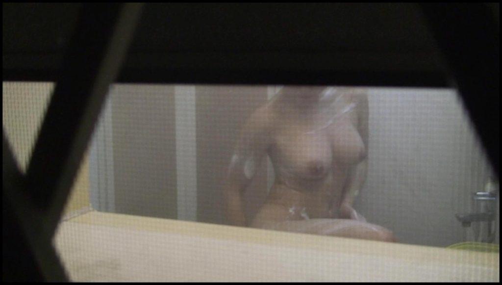 風呂場の窓から見えたヌード女性 (8)