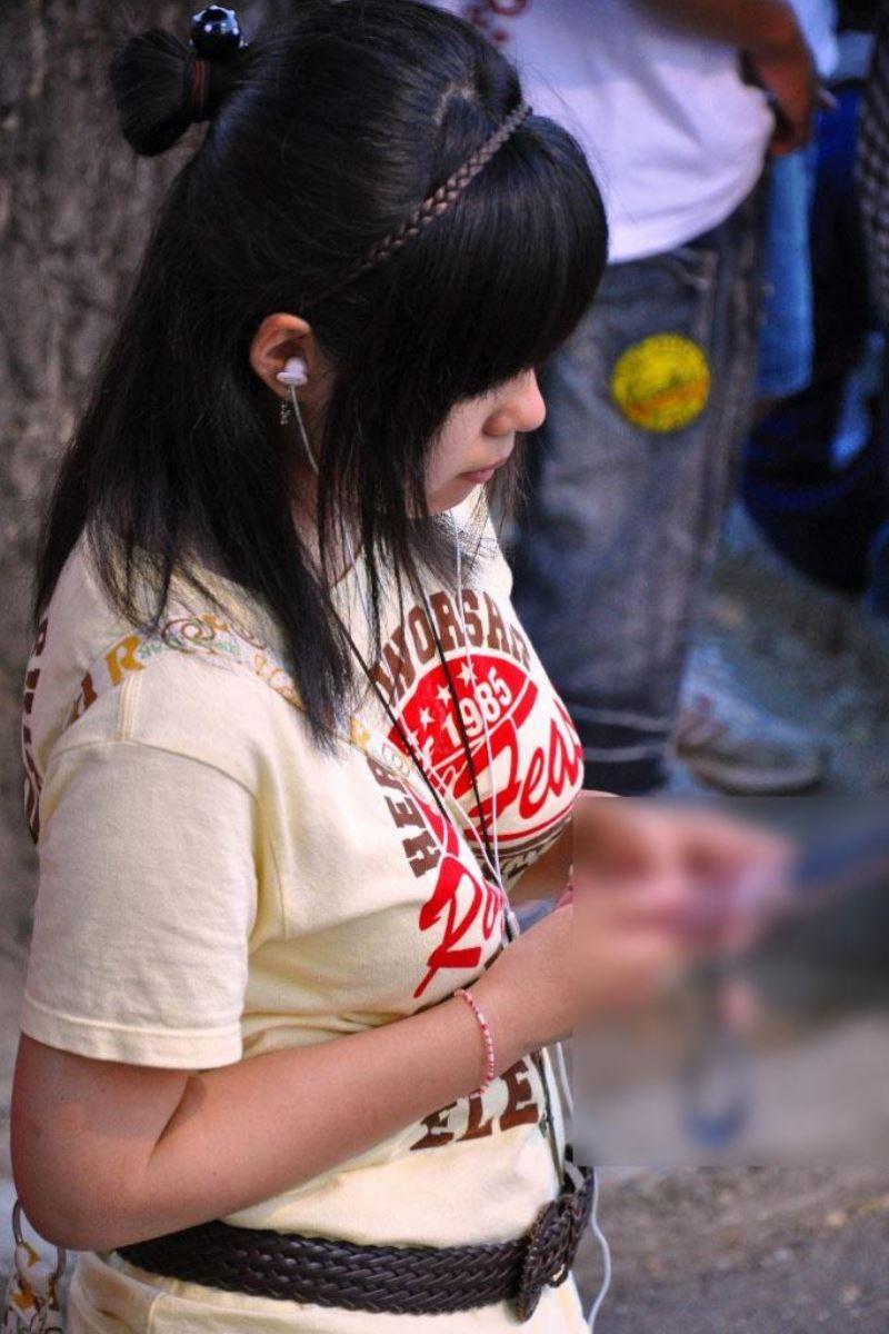パイスラしてる巨乳女性 (14)