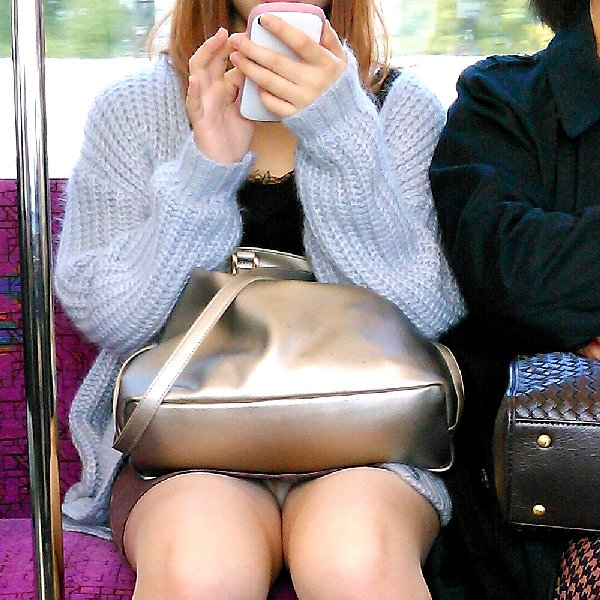 電車内でパンチラしてる (14)