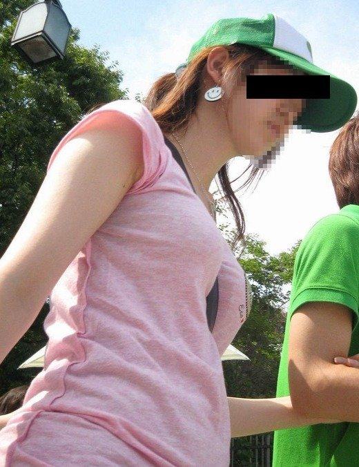 素人巨乳女性のパイスラ (4)