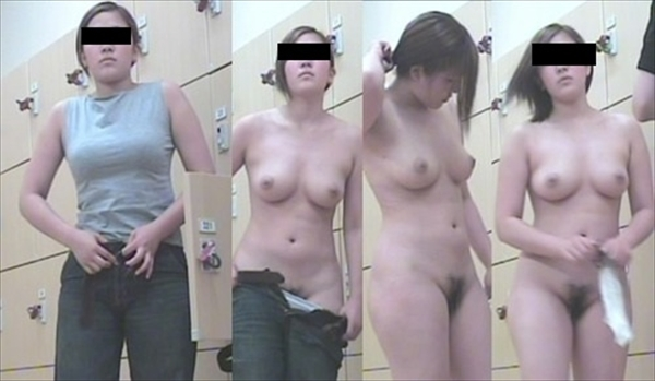 脱衣所で服を脱ぐ素人女子 (9)