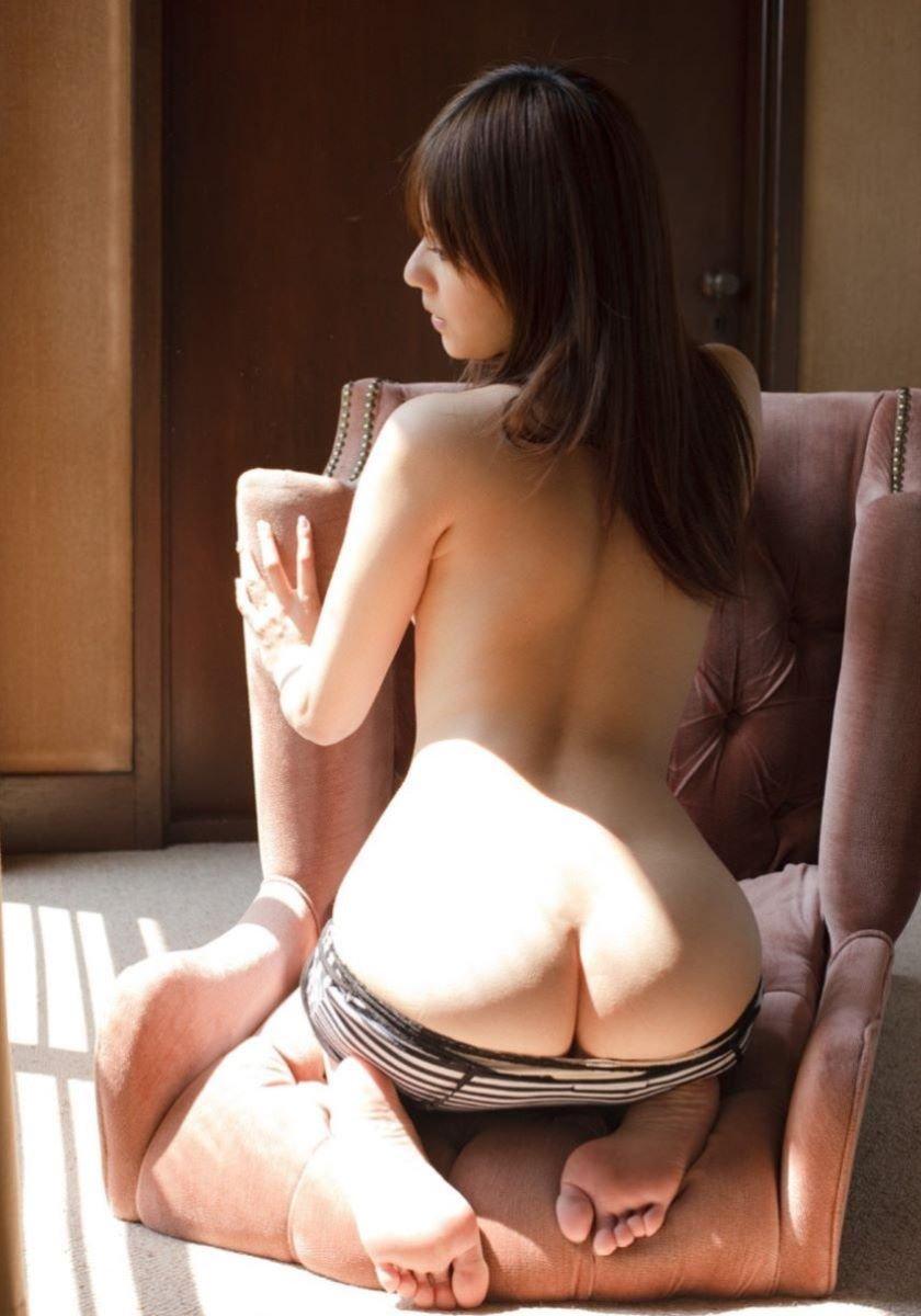 後ろ姿が綺麗な美尻女性 (14)