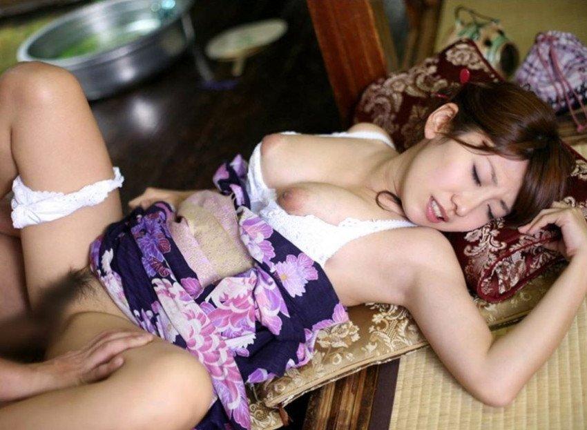 和服美人と和風SEX (12)