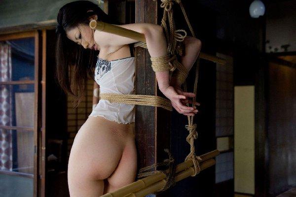 緊縛状態のお尻 (16)