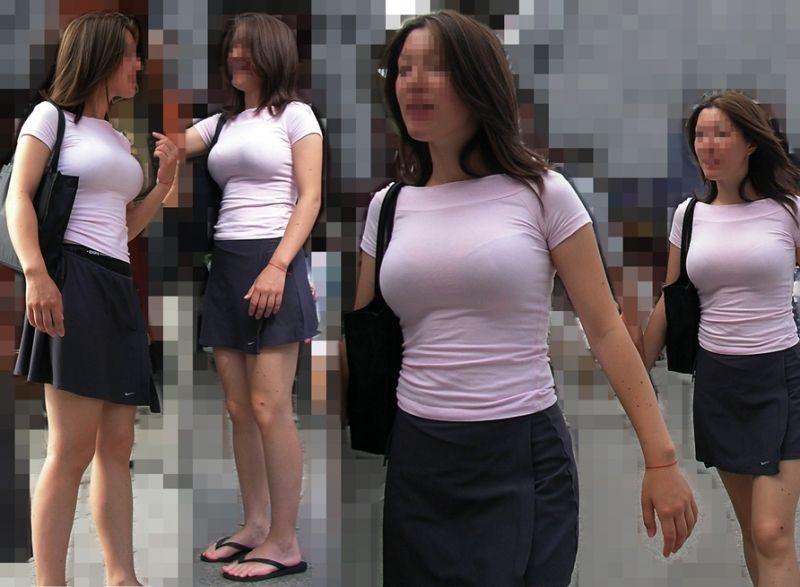 ブラが透けてる着衣の巨乳 (11)