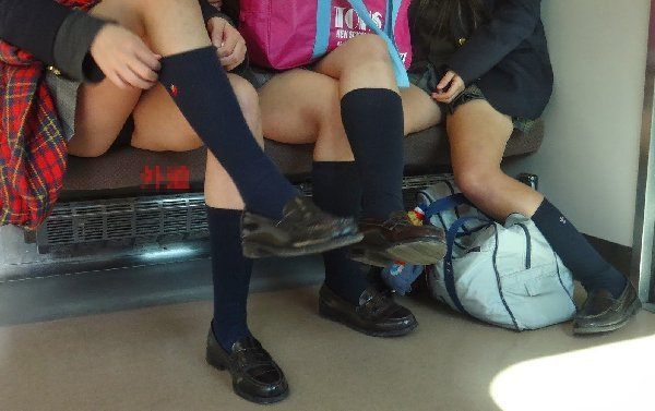 電車内で見つけたパンチラ素人女子 (19)