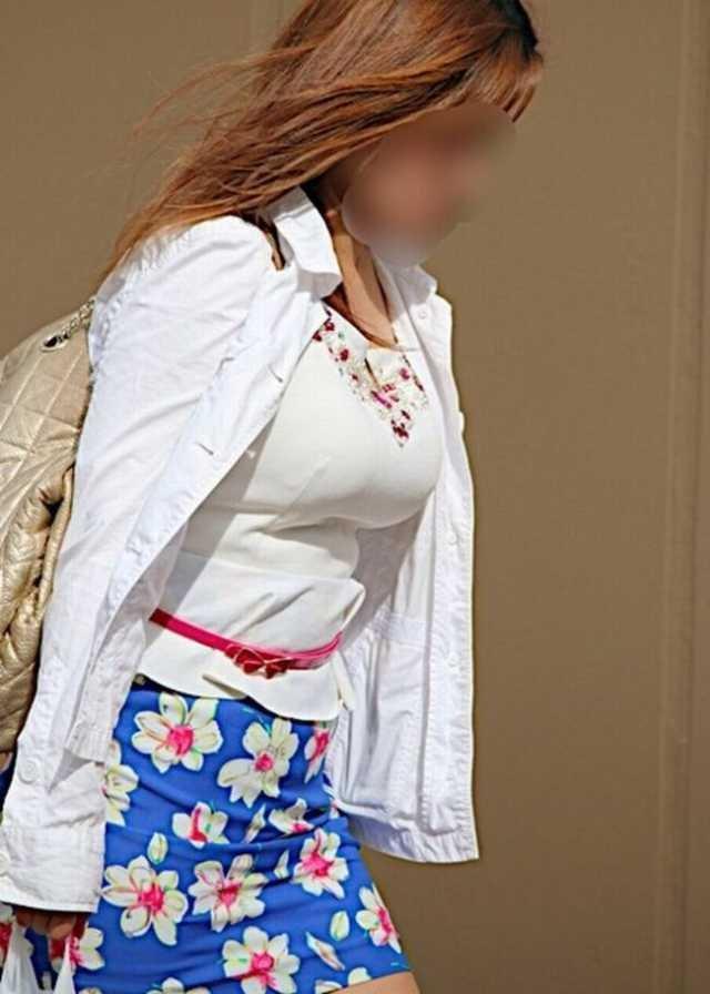 着衣巨乳が目立ちまくる素人女子 (15)