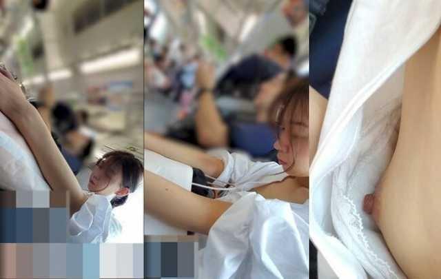 乳首チラしてる素人女子 (12)