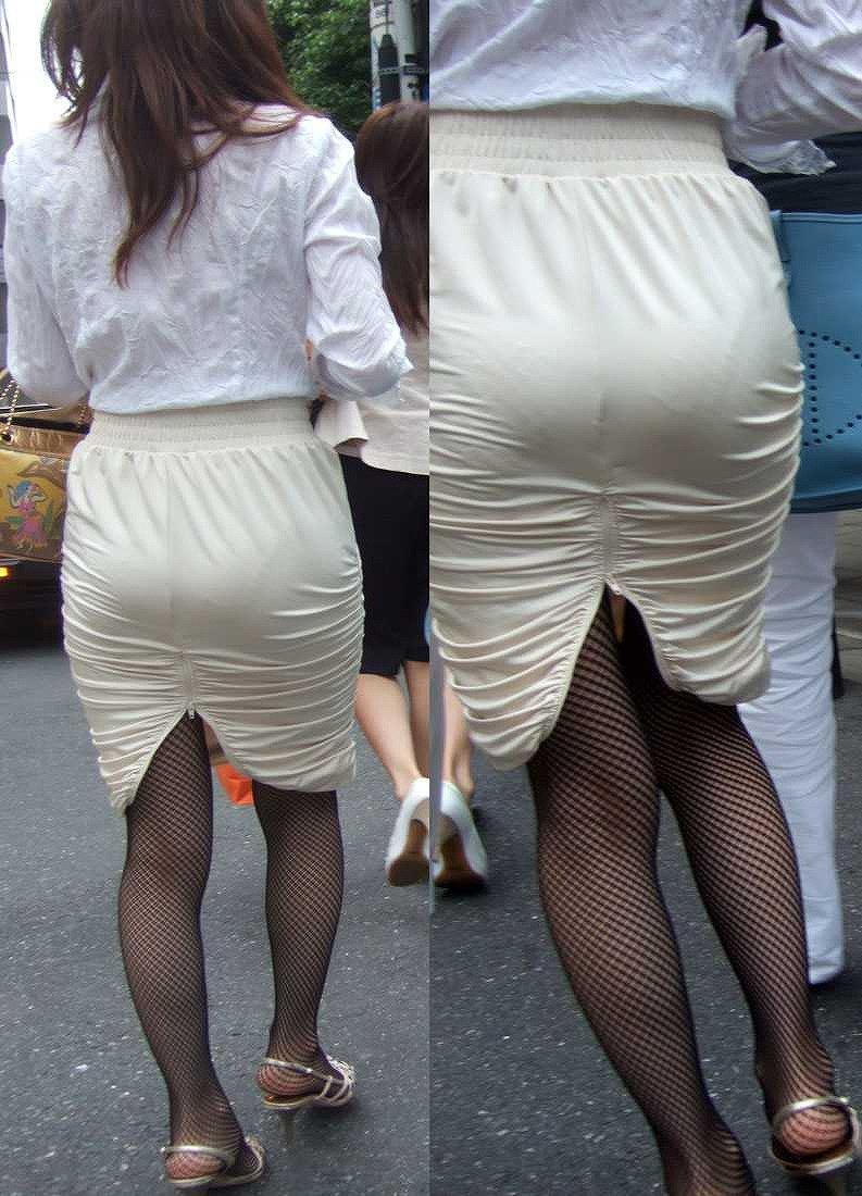 スカートからパンツが透けてる (17)