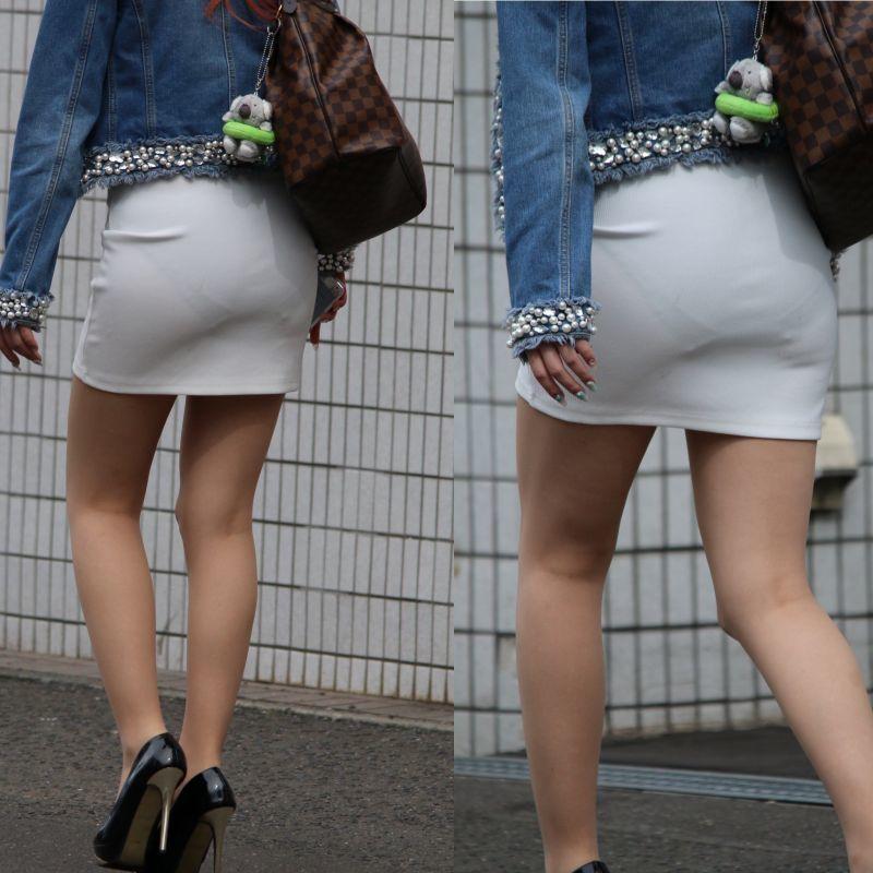 スカートからパンツが透けてる (20)
