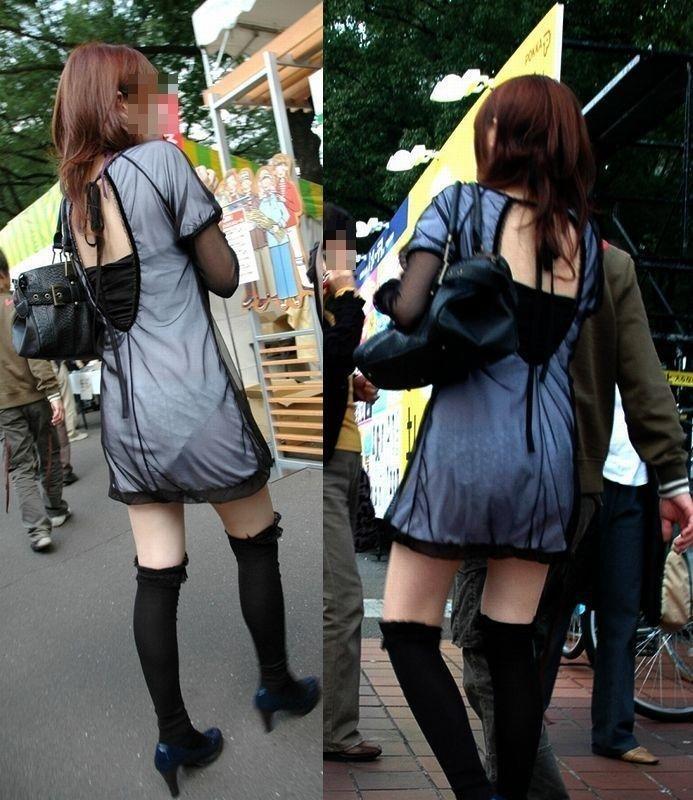 パンツが透けまくりな素人女子 (20)