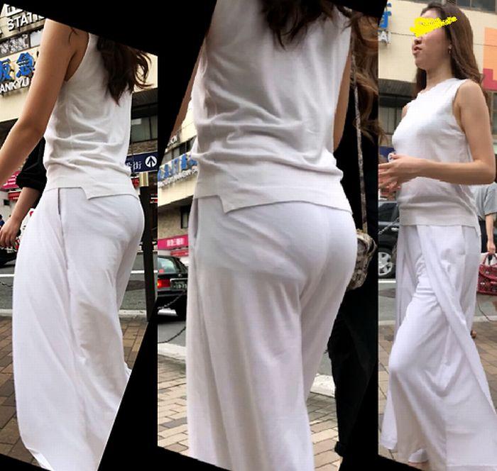 パンツが透けまくりな素人女子 (12)